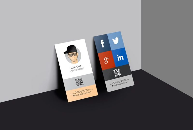 Creative vertical business card design mockup free psd reheart Choice Image