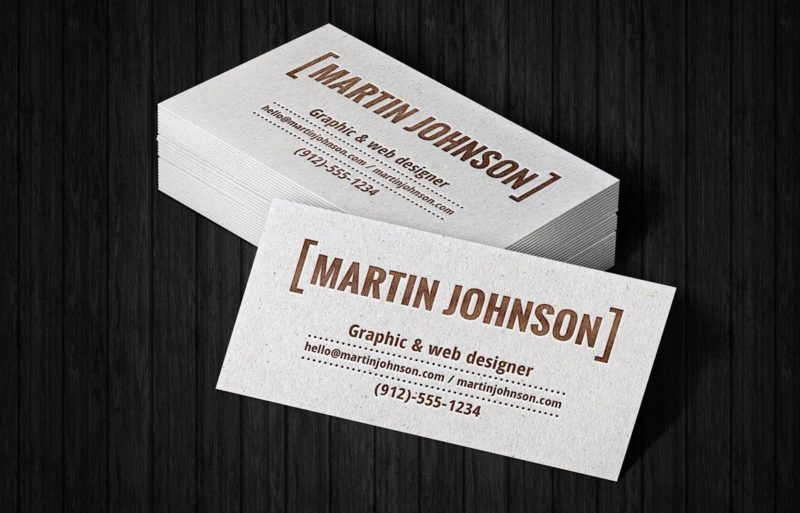Creative Stack Business Cards Mockup Free PSD