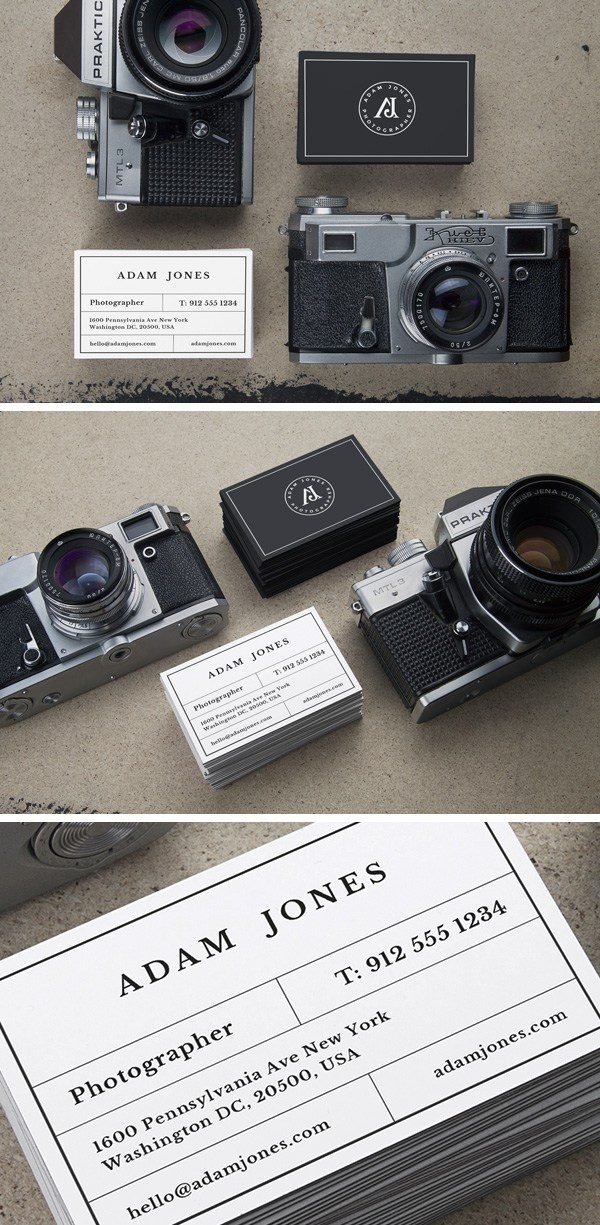 Creative Photographer Business Cards Mockups Free PSD