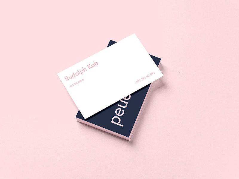 Creative Business Card Template Design Mockup Free PSD