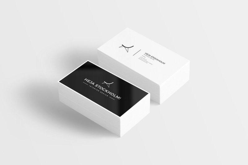 Creative Flat Business Card Mockup Free PSD