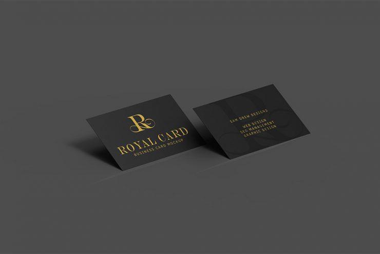 Creative Dark Business Card Mockup PSD