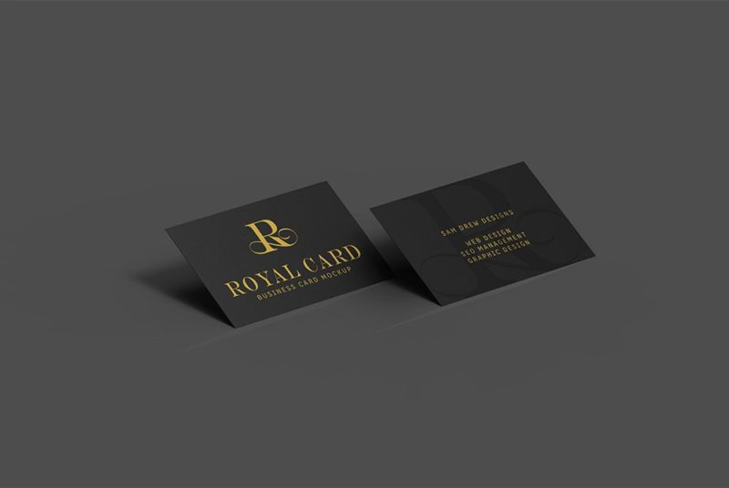 Creative Dark Business Card Mockup PSD