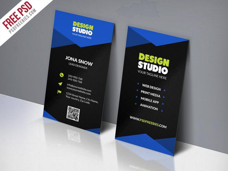Creative Design Studio Business Card Template Free PSD