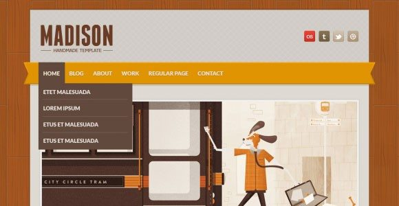 Creative Madison free PSD website template