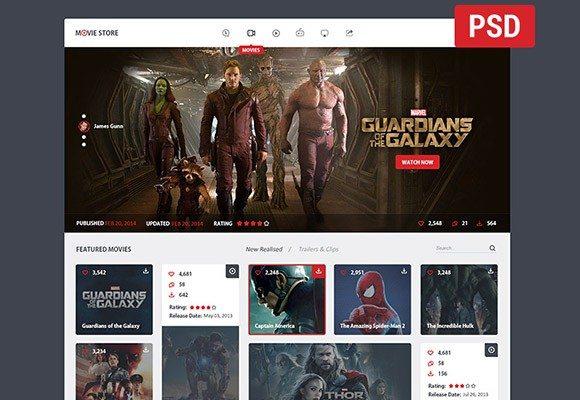 Creative Movie store ‰ÛÒ PSD template