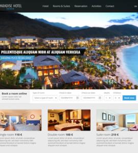 Creative Paradise Hotel ‰ÛÒ PSD website template