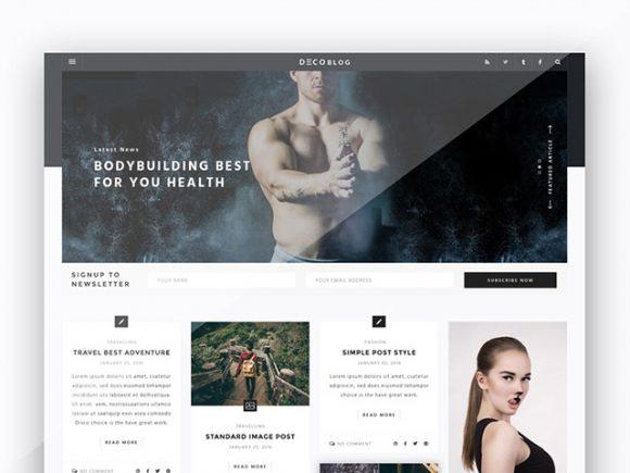 Creative Personal blog design template
