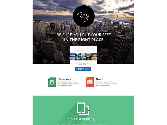 Creative Single page website template
