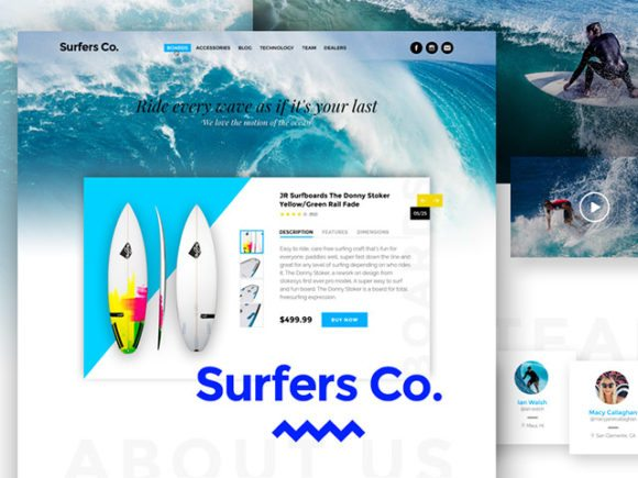 Creative Surfers Co. ‰ÛÒ A Bootstrap-ready PSD template