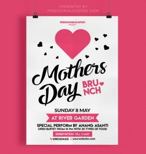 Happy Mothers Day Flyer Free Psd thumbnail