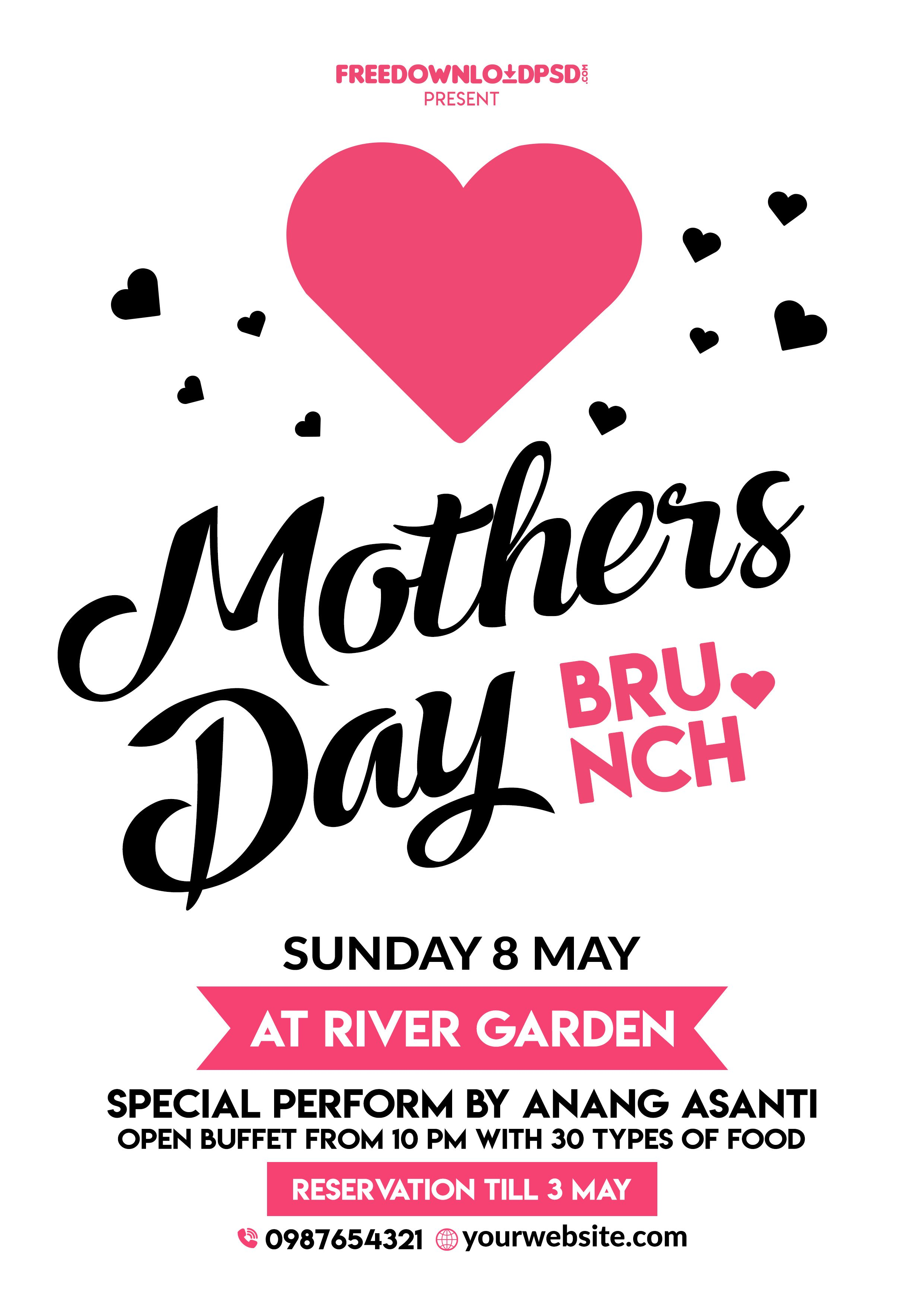 Happy Mothers Day Flyer Free Psd – Mothers Day Flyer