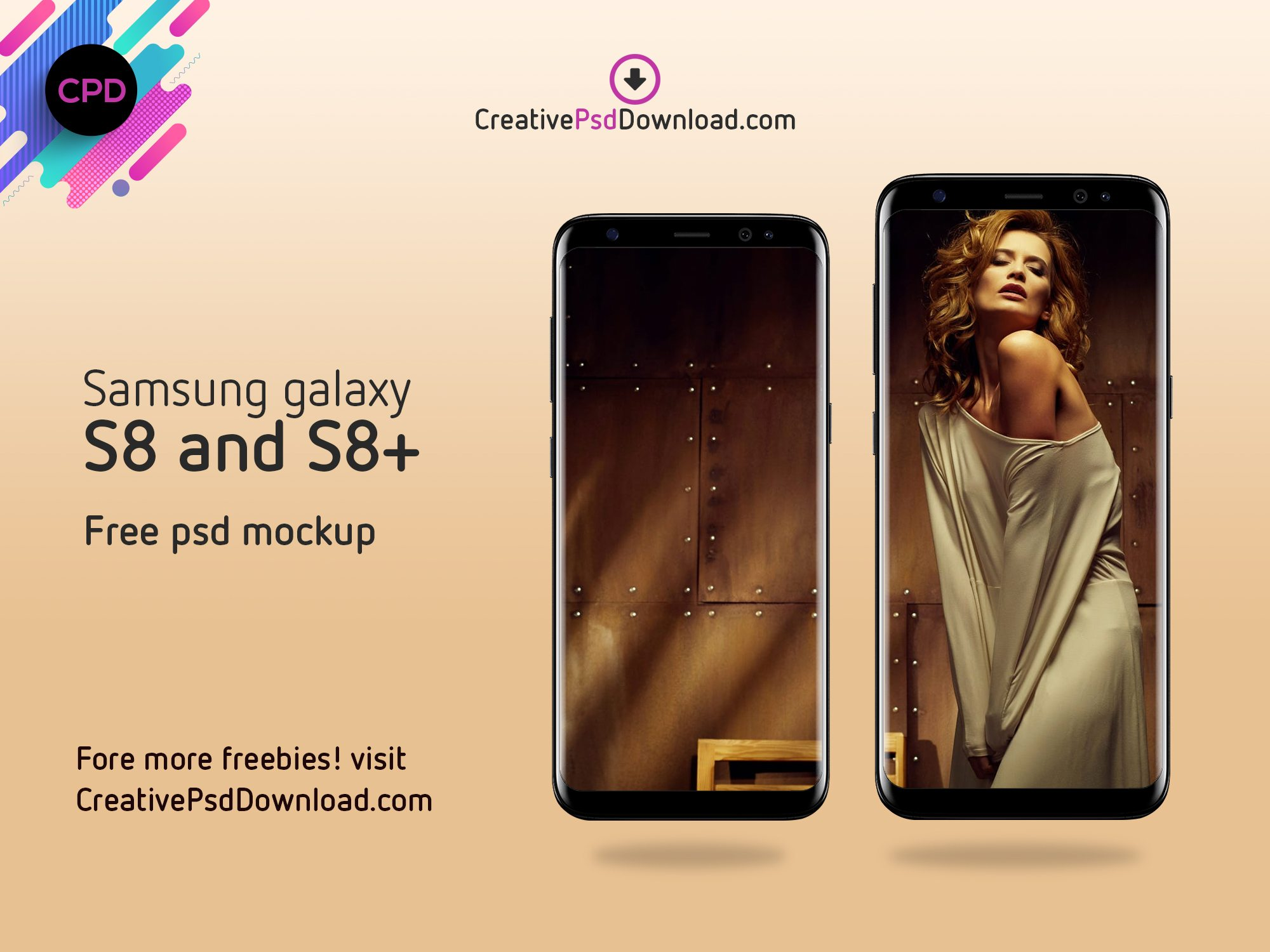 Samsung Galaxy S8 And S8+ Free Psd Mockup