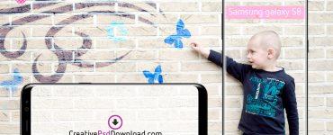 Samsung Galaxy S8 Portrait and Landscape Mockup Thumbnail