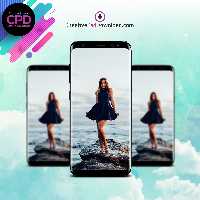 Samsung S8 Creative Mockup PSD Free Download Thumbnail