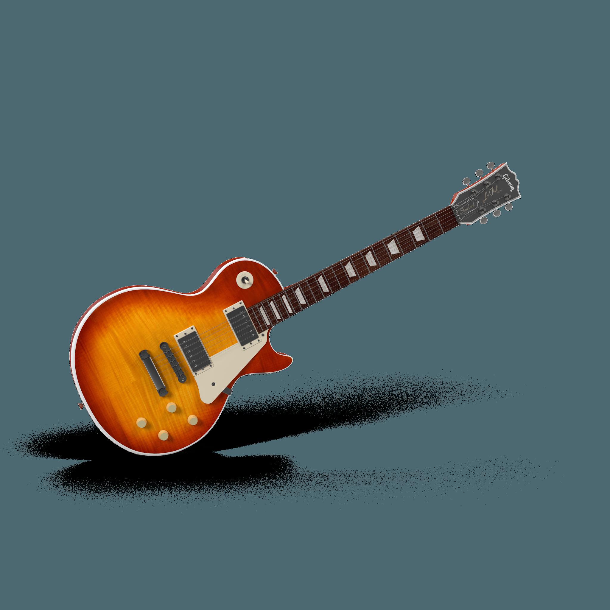 Old-School Beautiful Guitar Mockup 2