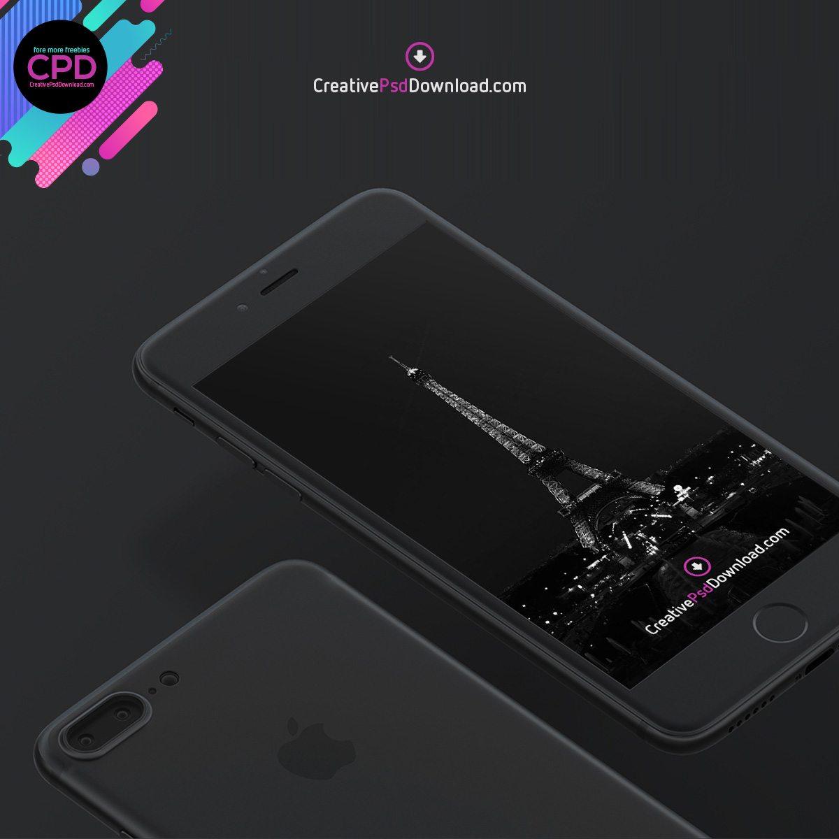 Premium iPhone 7 Psd Mockup Thumbnail