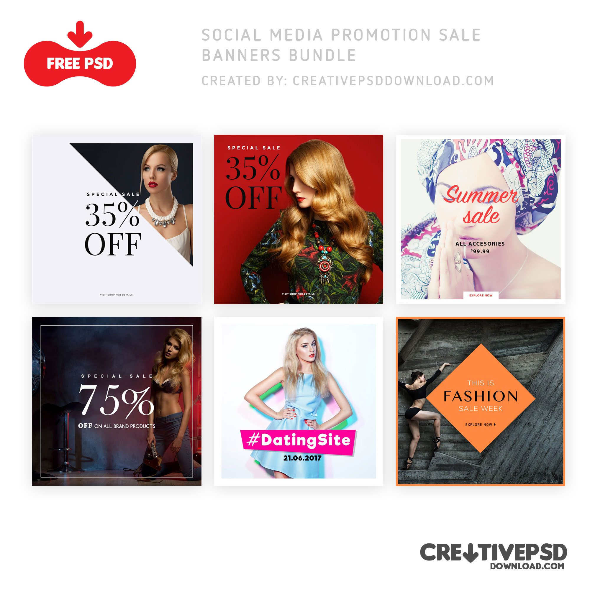 Social Media Promotion Sale Banners Bundle
