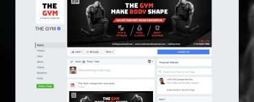 The Gym Facebook Fanpage Cover Free PSD Thumbnail