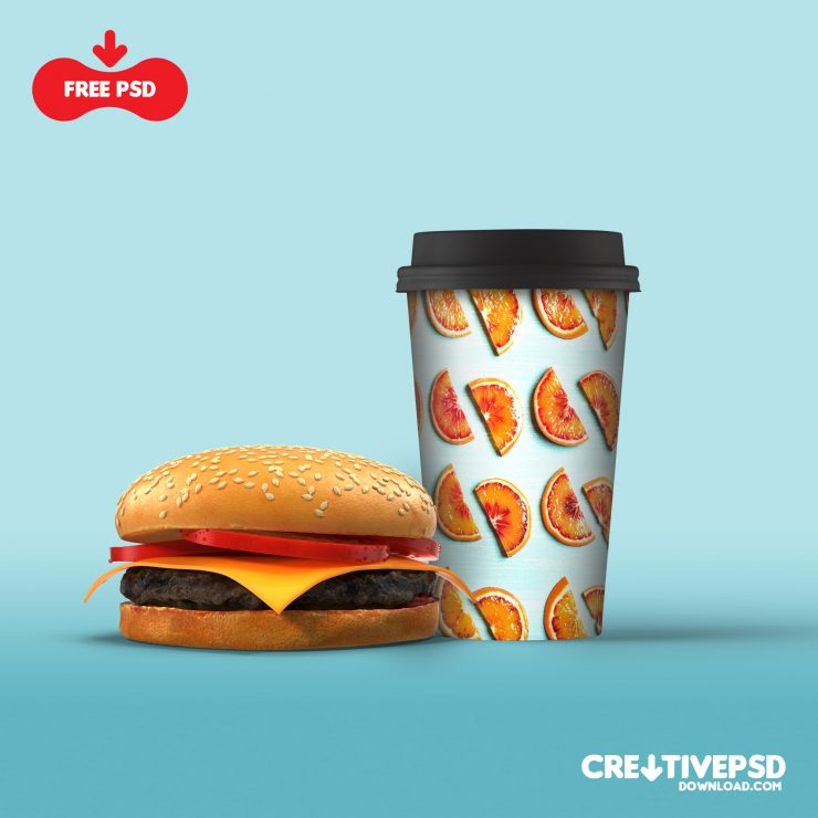 Paper Cold Drink Cup Mockup Thumbnail