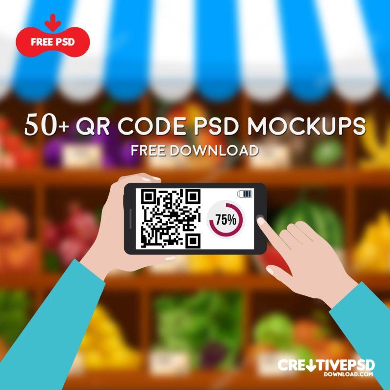 50+ QR Code Psd Mockups