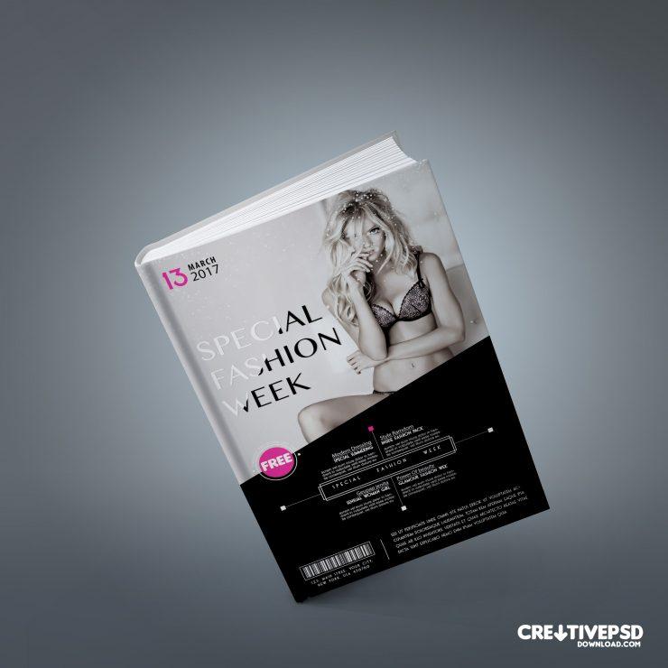 Fashion Book Cover Free PSD Mockup