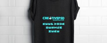 T-Shirt PSD Mockup Freebie