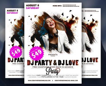 Party Flyer Free PSD Mockup