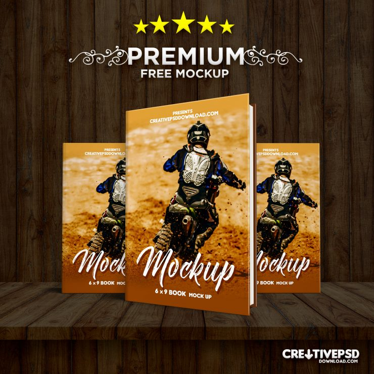 Premium Book Cover PSD Mockup