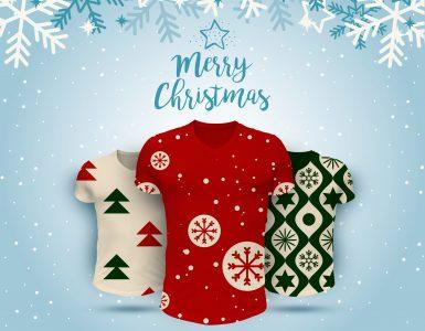 Christmas T-Shirts Collection Free PSD Mockup