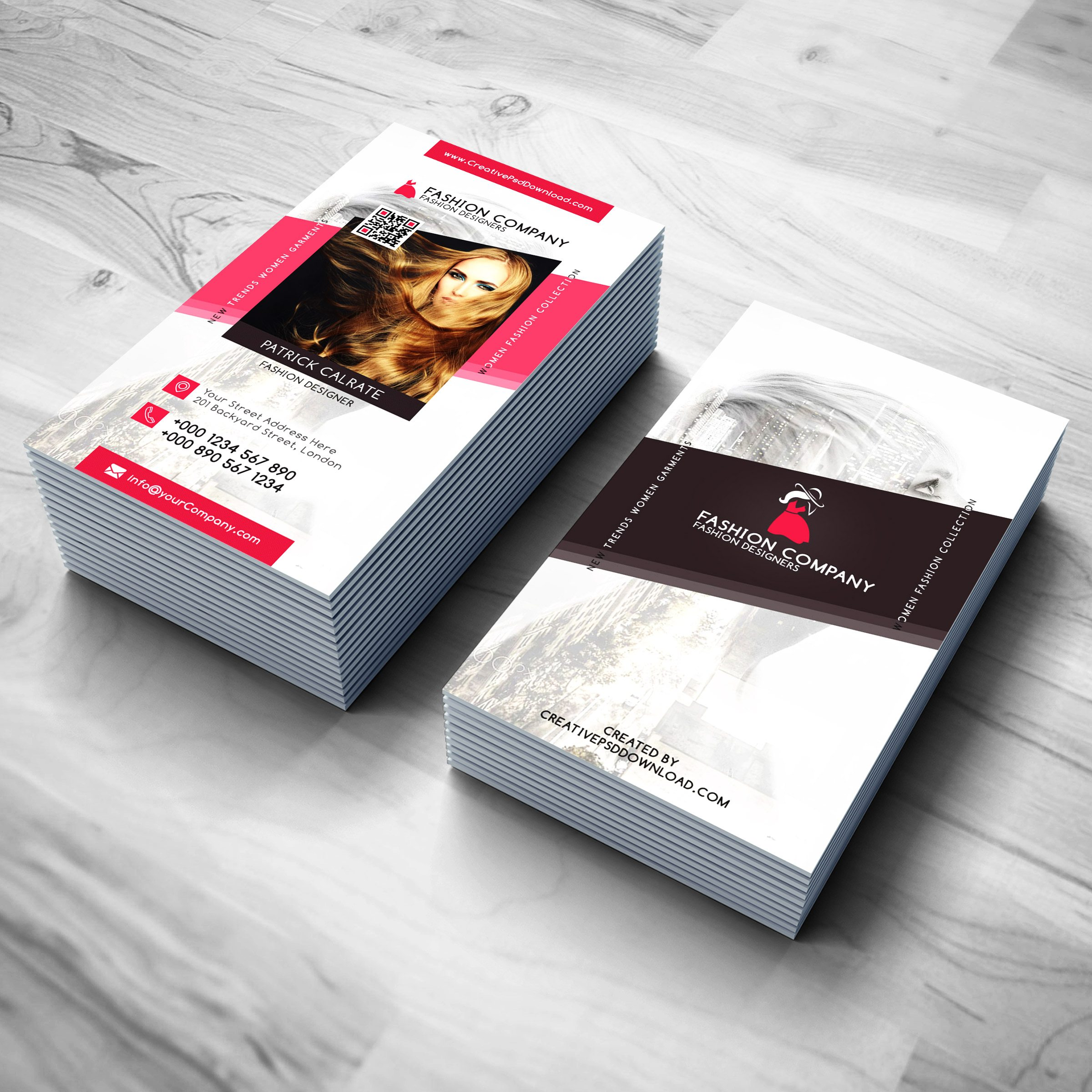 Fashion designer business card free psd reheart Images