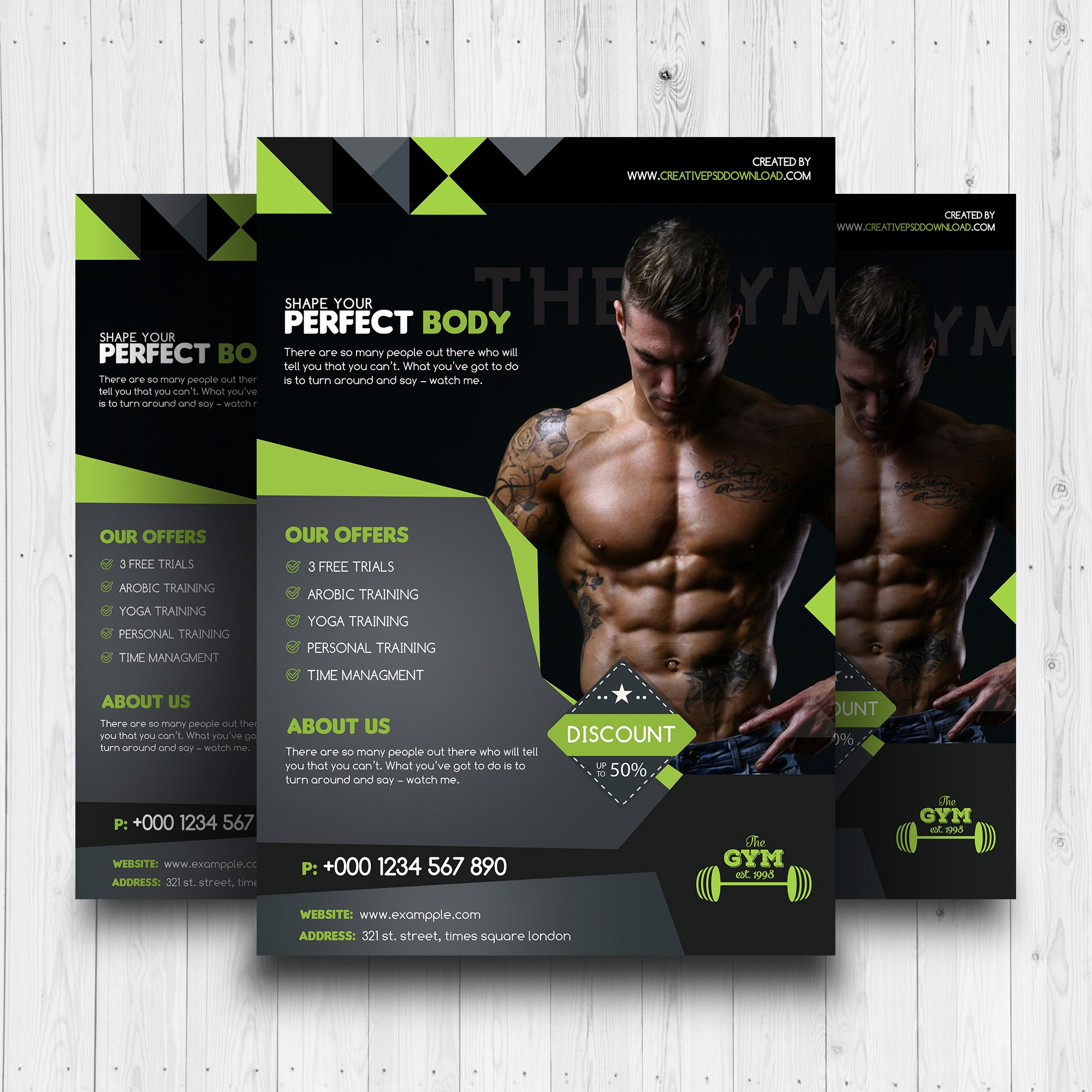 Premium Fitness Flyer Free PSD Template  Free Fitness Flyer Templates