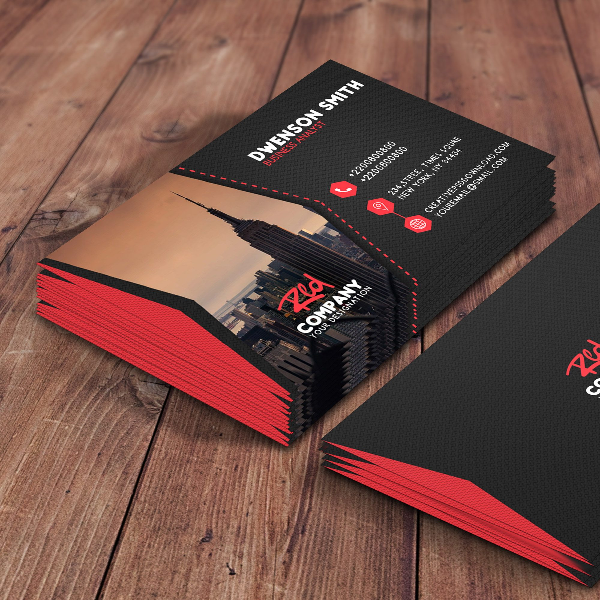 Business Card Free PSD Template - Professional business card templates