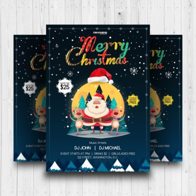 free christmas flyer psd, christmas flyer template free, christmas party flyer template free, free christmas psd, free holiday flyer templates, free christmas poster templates, christmas party poster template free, christmas flyer background, Christmas Party Flyer Free PSD Mockup