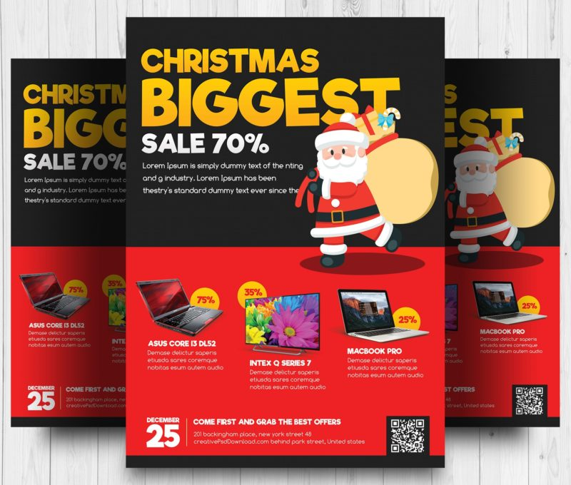 Creative PSD  Free Holiday Flyer Templates Word