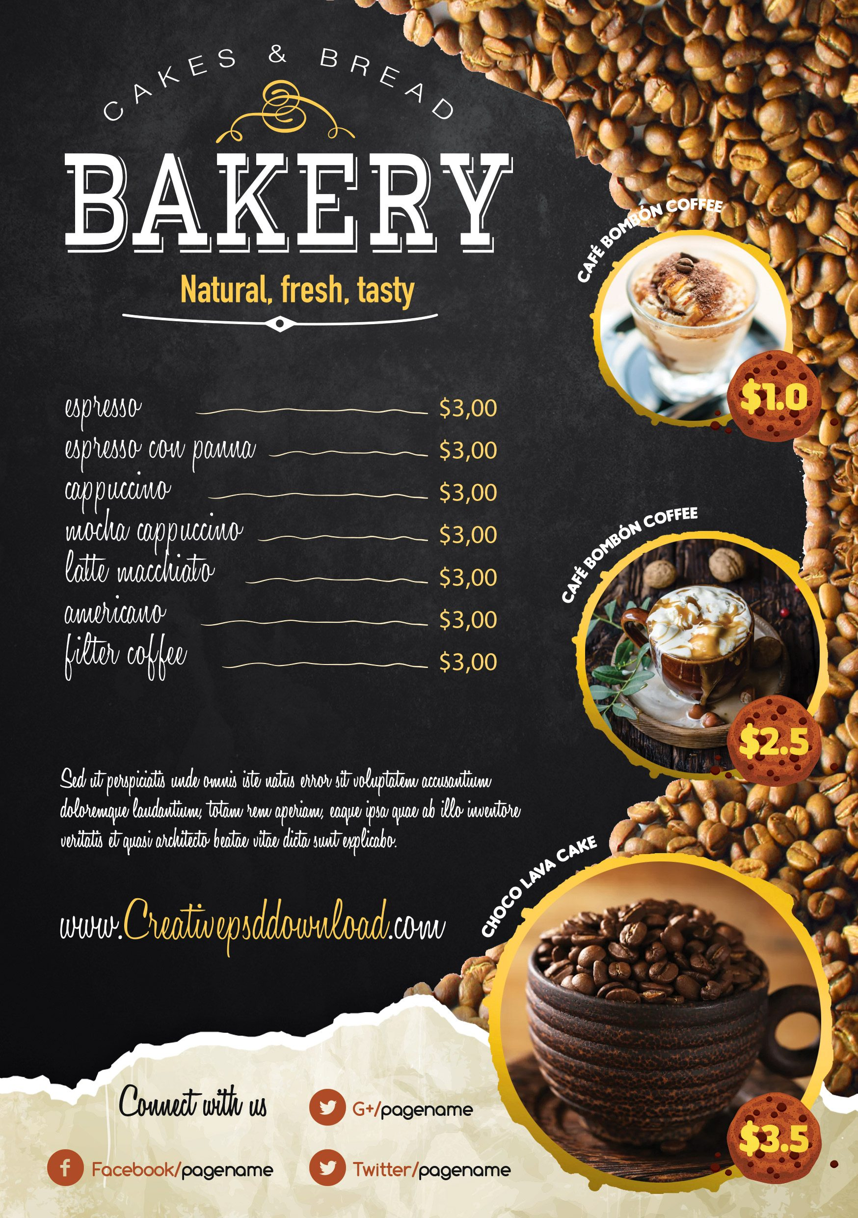 Coffee Shop Flyer PSD Freebie