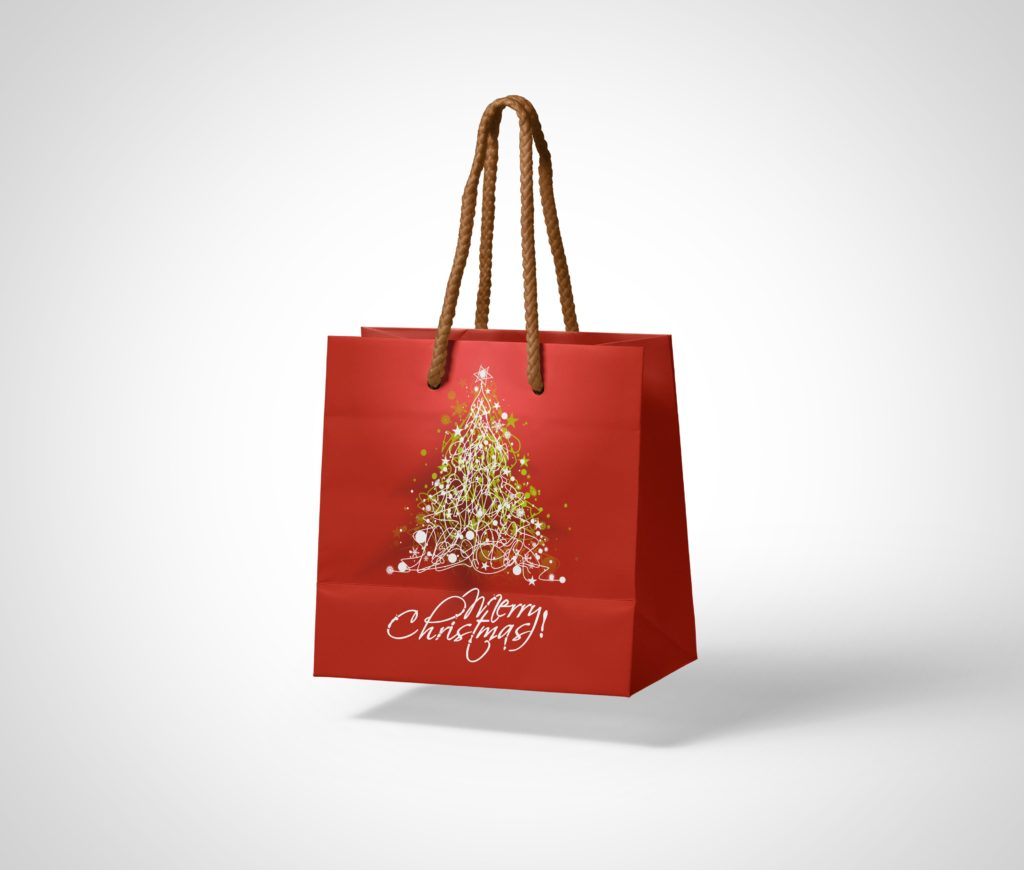 Free Shopping Paper Bag PSD Mockup