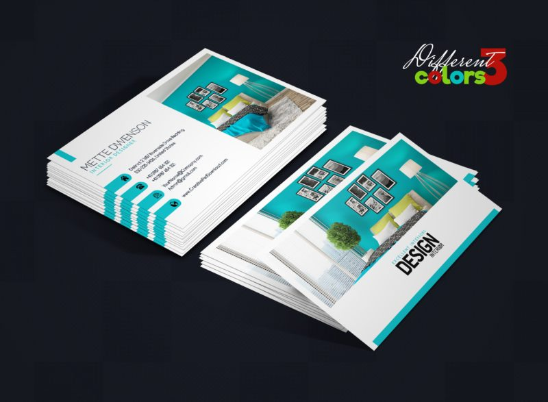 150 free business card psd templates for Interior designers business cards
