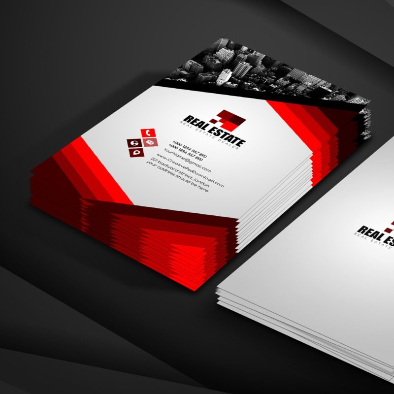 100 free business card psd templates real estate business card free psd template fbccfo Image collections