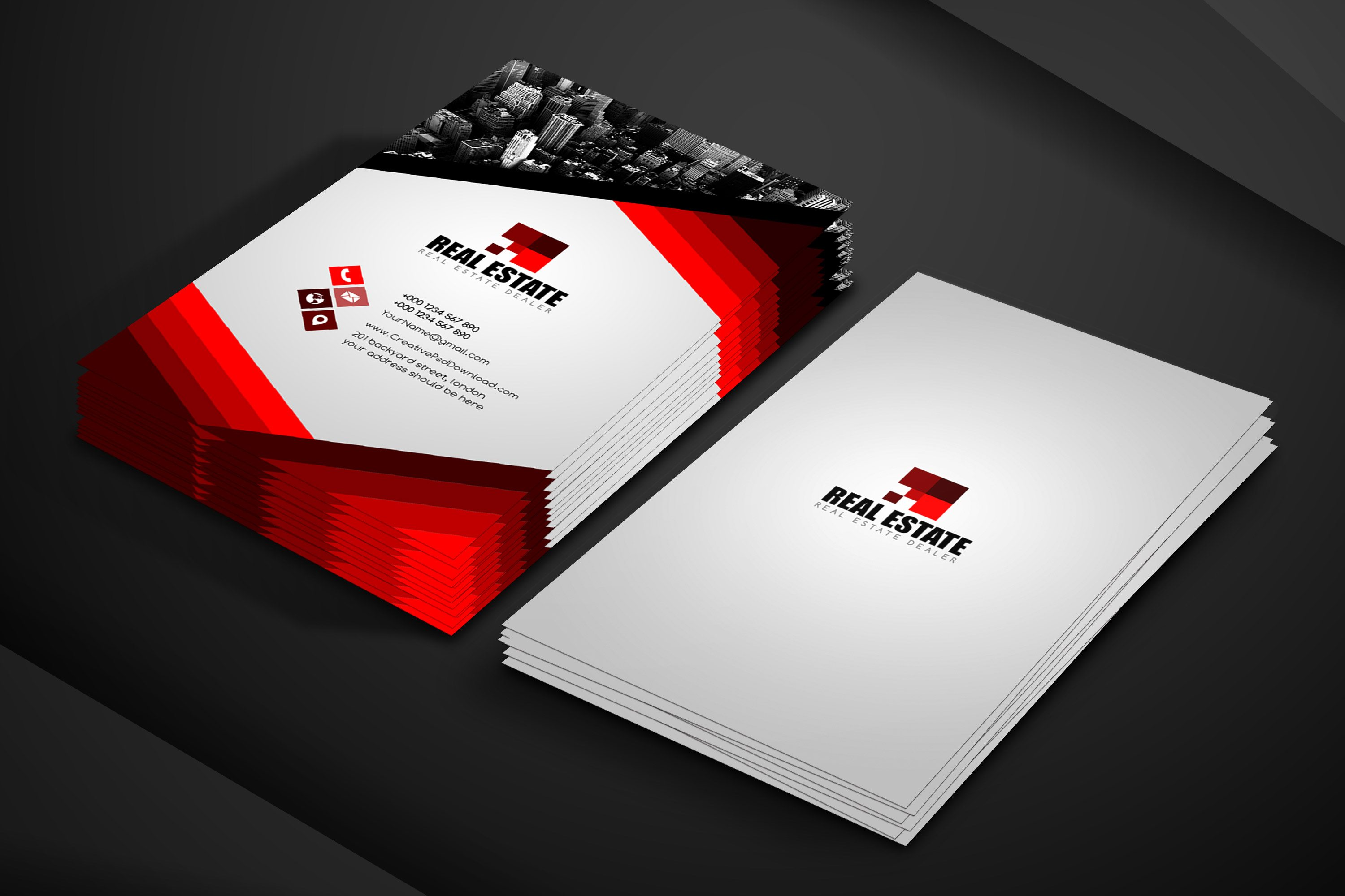 Real estate business card free psd template accmission Choice Image