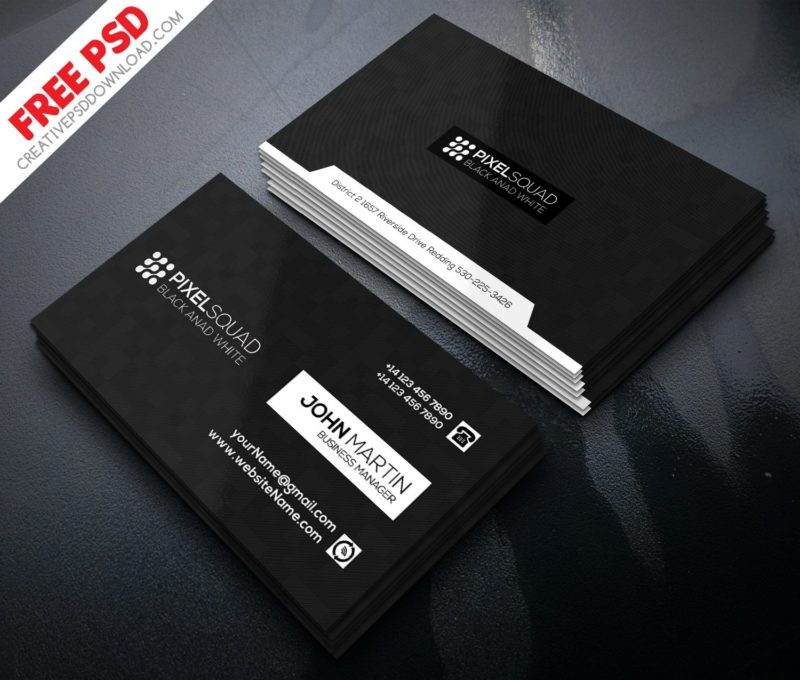 Black And White Business Card Freebie