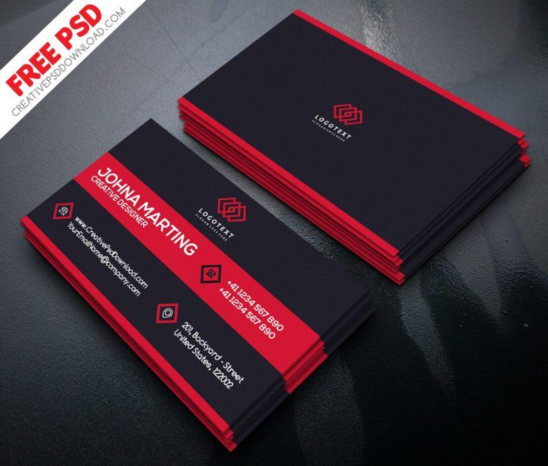 Corporate Business Card PSD Freebie