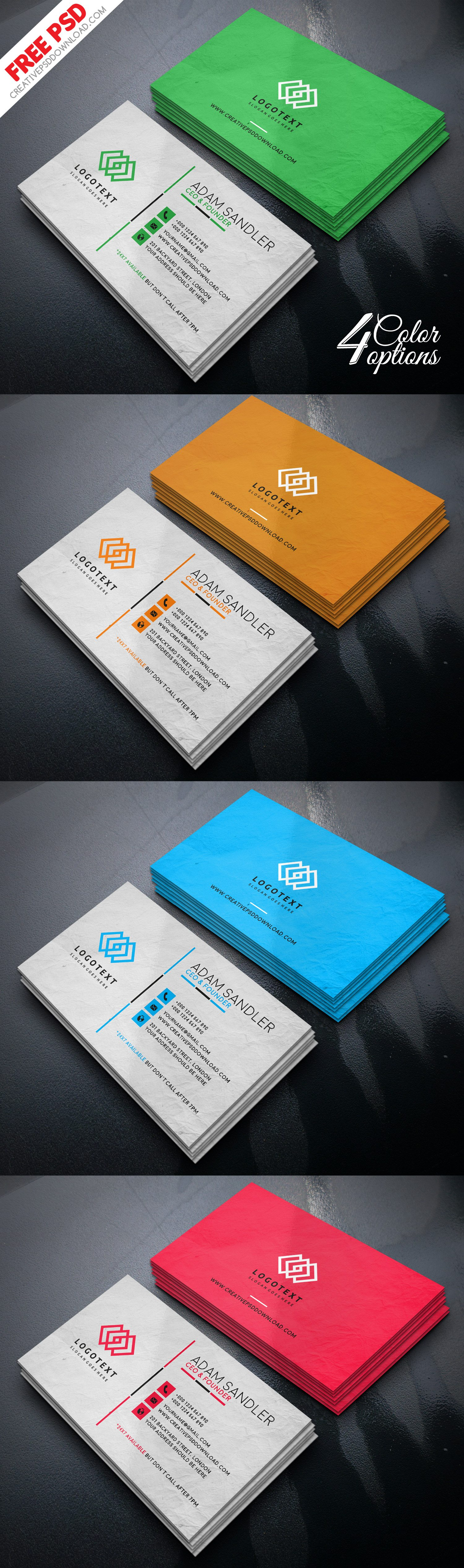 Corporate Multipurpose Business Card PSD Freebie