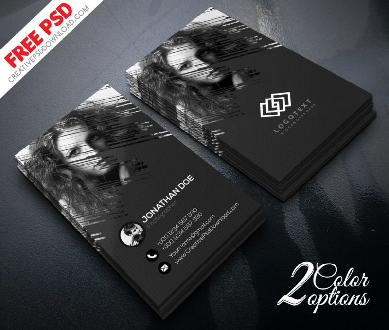 Photographer business card psd freebie reheart Image collections