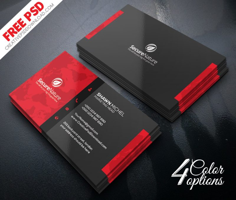 Corporate Business Card PSD Freebie