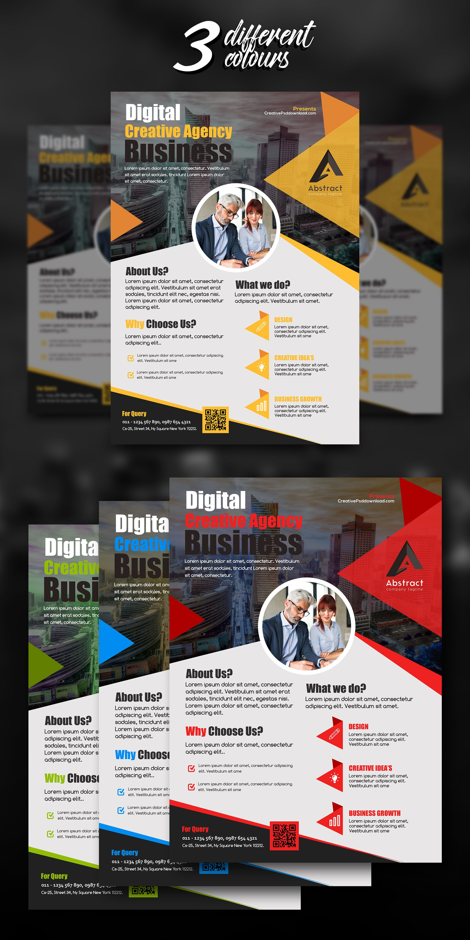 Professional Business Flyer PSD Freebie