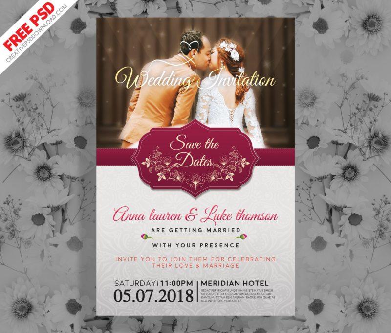 Wedding invitation post card psd stopboris Images