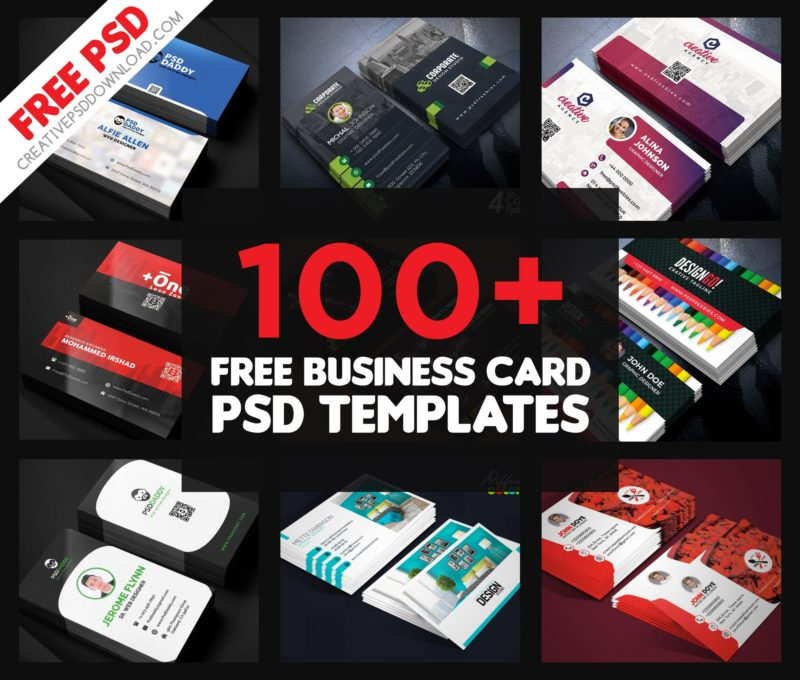 100 free business card psd templates fbccfo Images