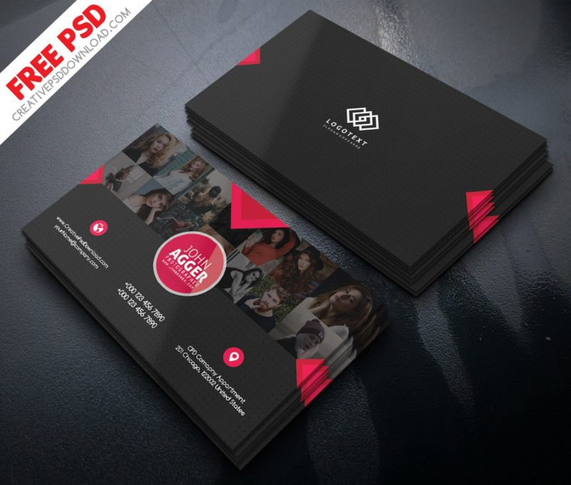 Photographer business card free psd fbccfo Gallery