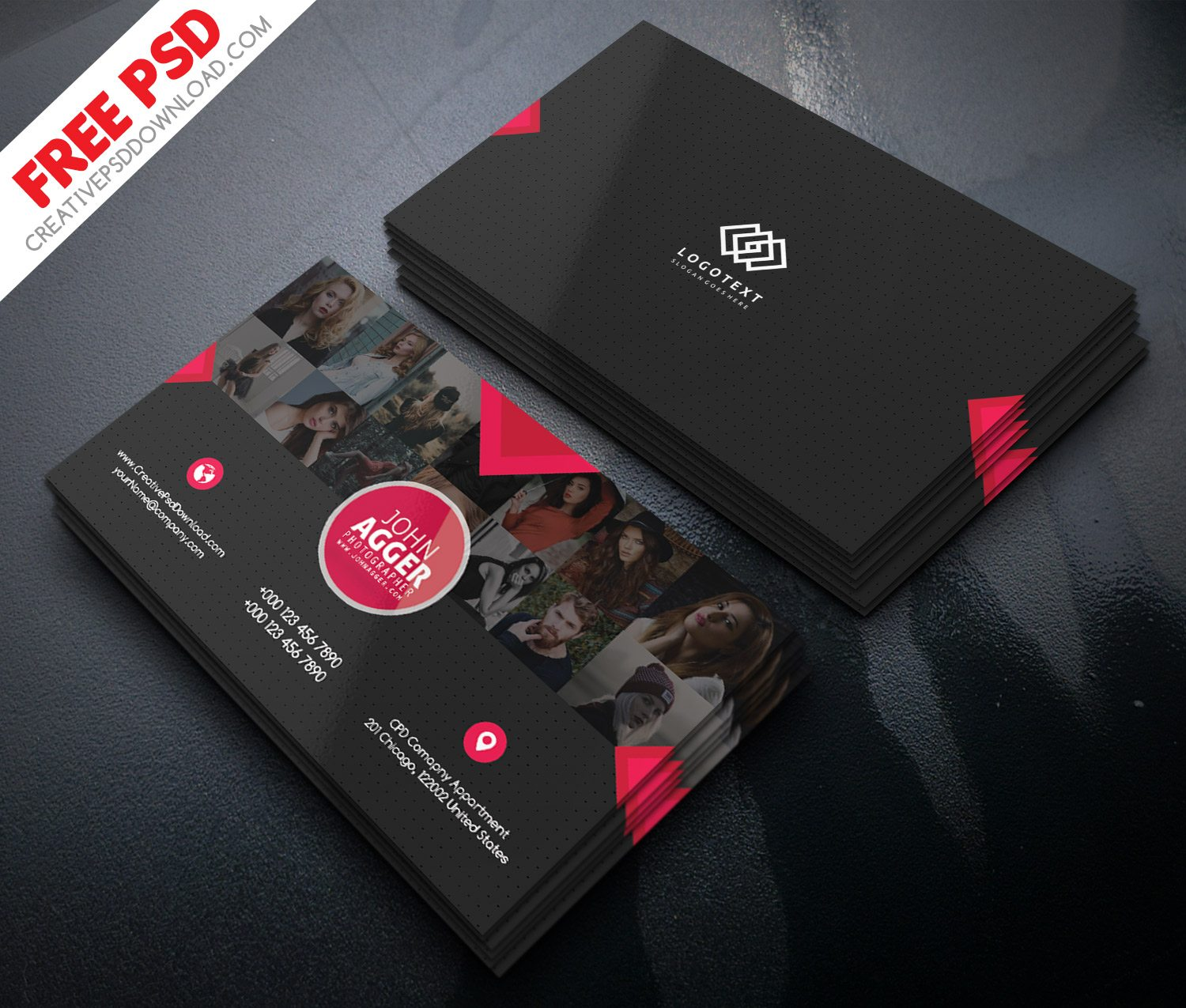 Photographer business card free psd reheart